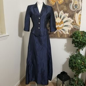 Mother Of Bride 2 PC Navy Cocktail Evening Formal